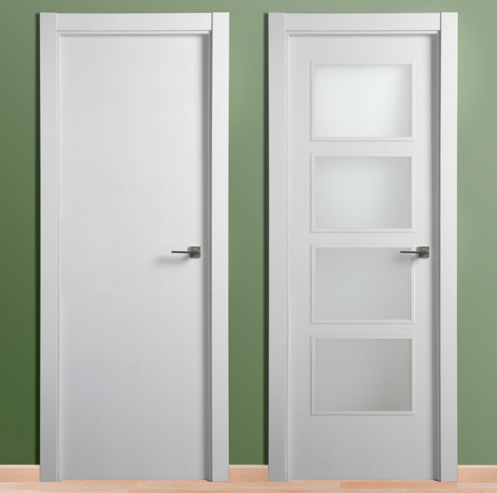 Puertas lacadas m s madera - Puertas madera barcelona ...