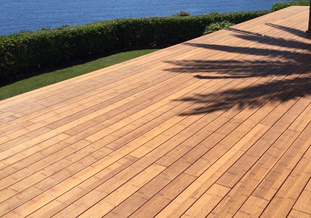 instalacion jardin suelo bambu detalle