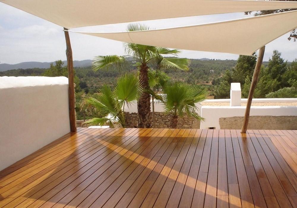 instalacion jardin suelo bambu