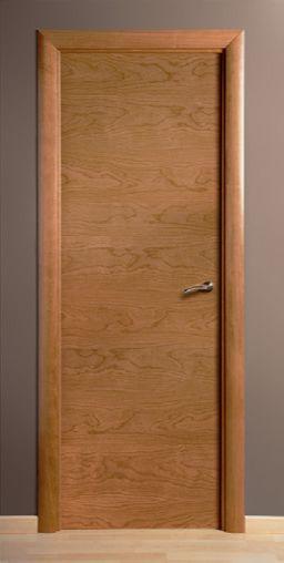 Puerta de madera chapa través Cerezo