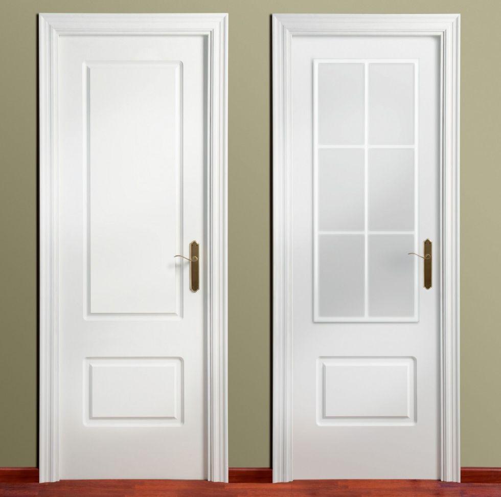 Puerta lacada plafonada recta