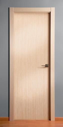 Puerta de madera maciza lisa roble decapé