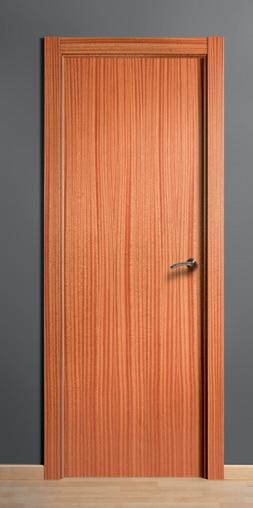Puerta de madera maciza lisa sapelly