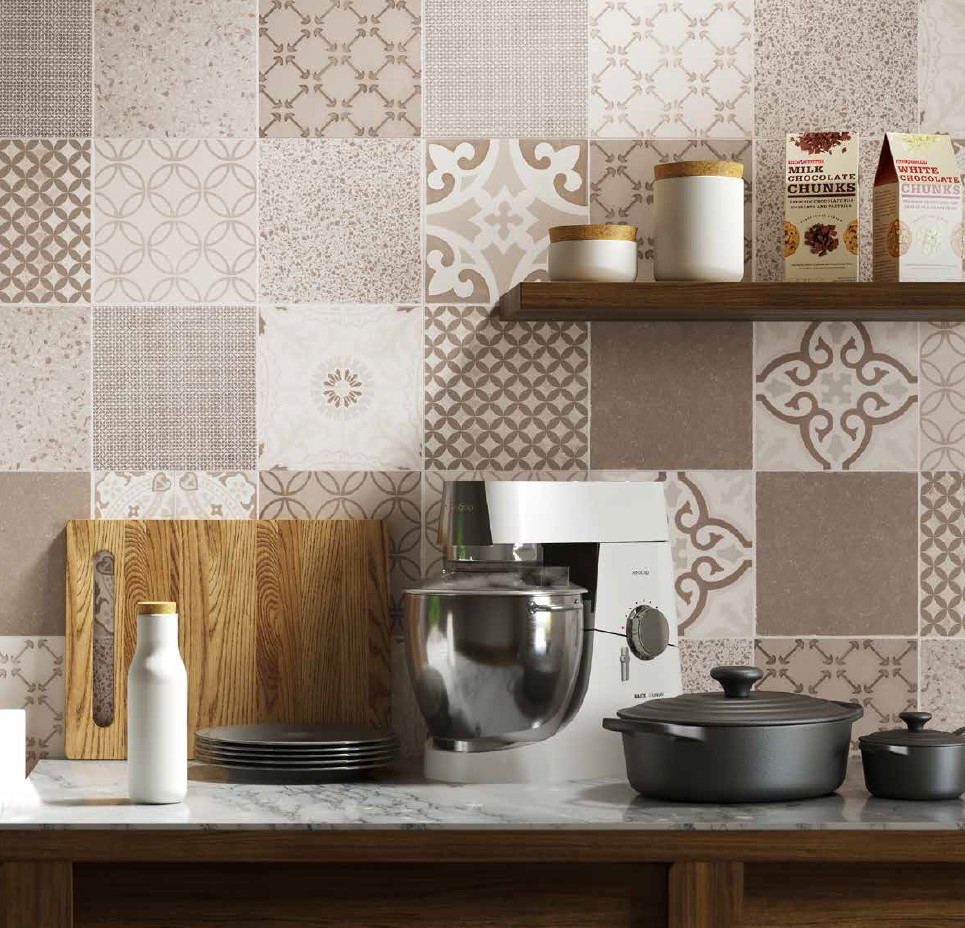Revestimiento hidráulico Sensa Ceramic en cocina
