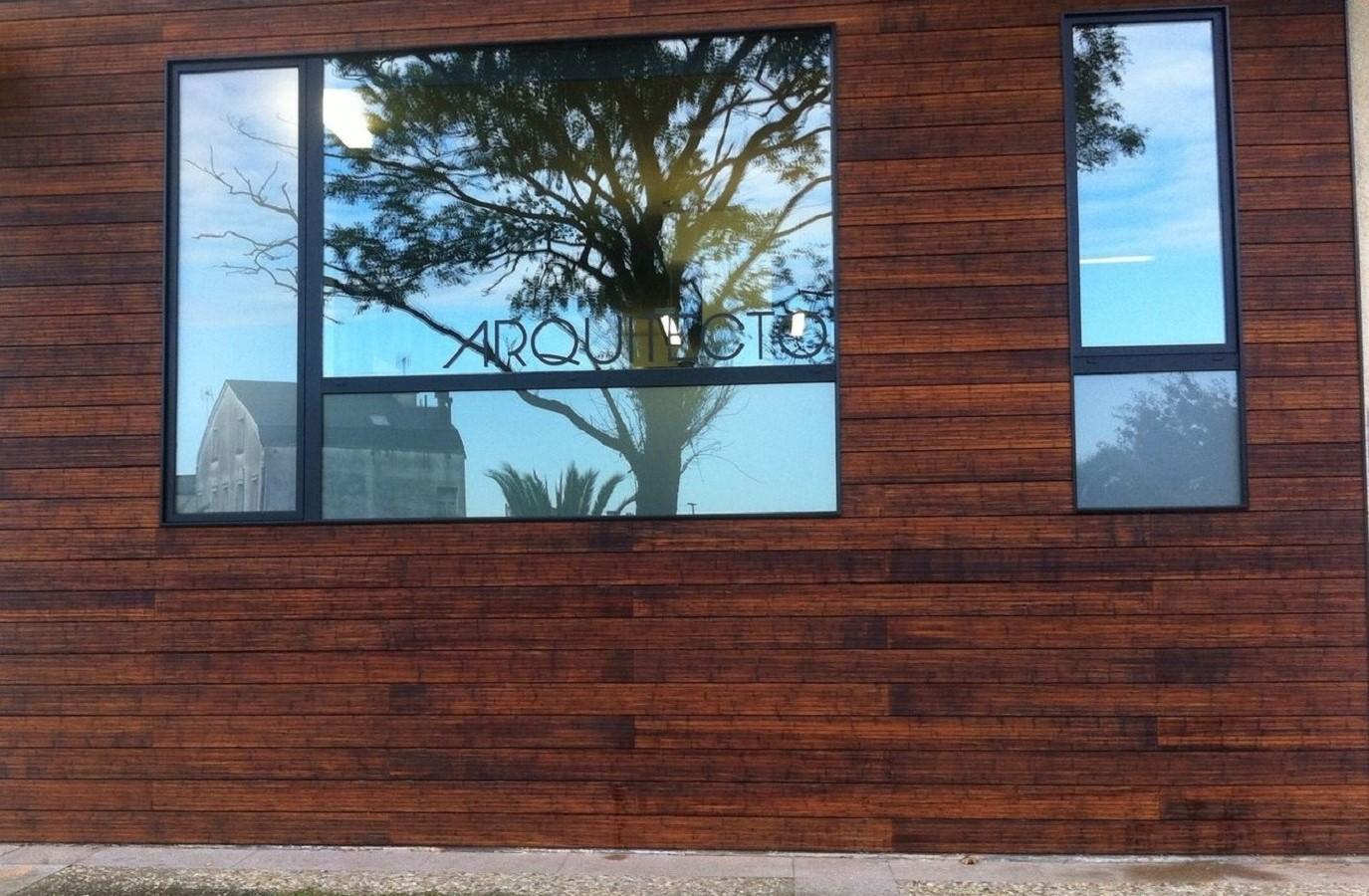 Proyectos Más Madera: Fachada estudio de arquitectos