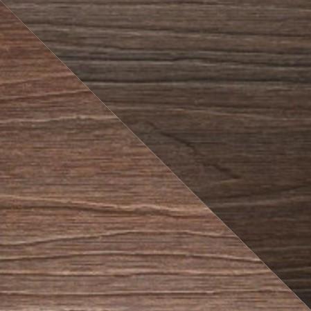 Tarima tecnológica encapsulada, color nogal e IPE, dos colores.