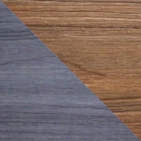 Tarima tecnológica encapsulada, color gris y teca, dos colores.