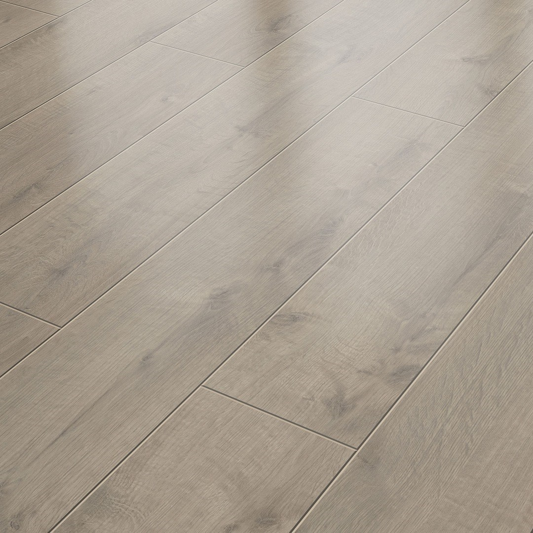 Suelo Laminado AC4 8 mm Solido Elite Roble Gris Marrón