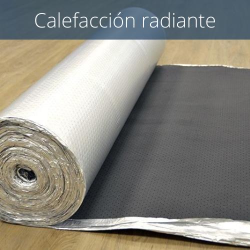 Aislante caucho perforada + aluminio 2 mm para calefacción radiante