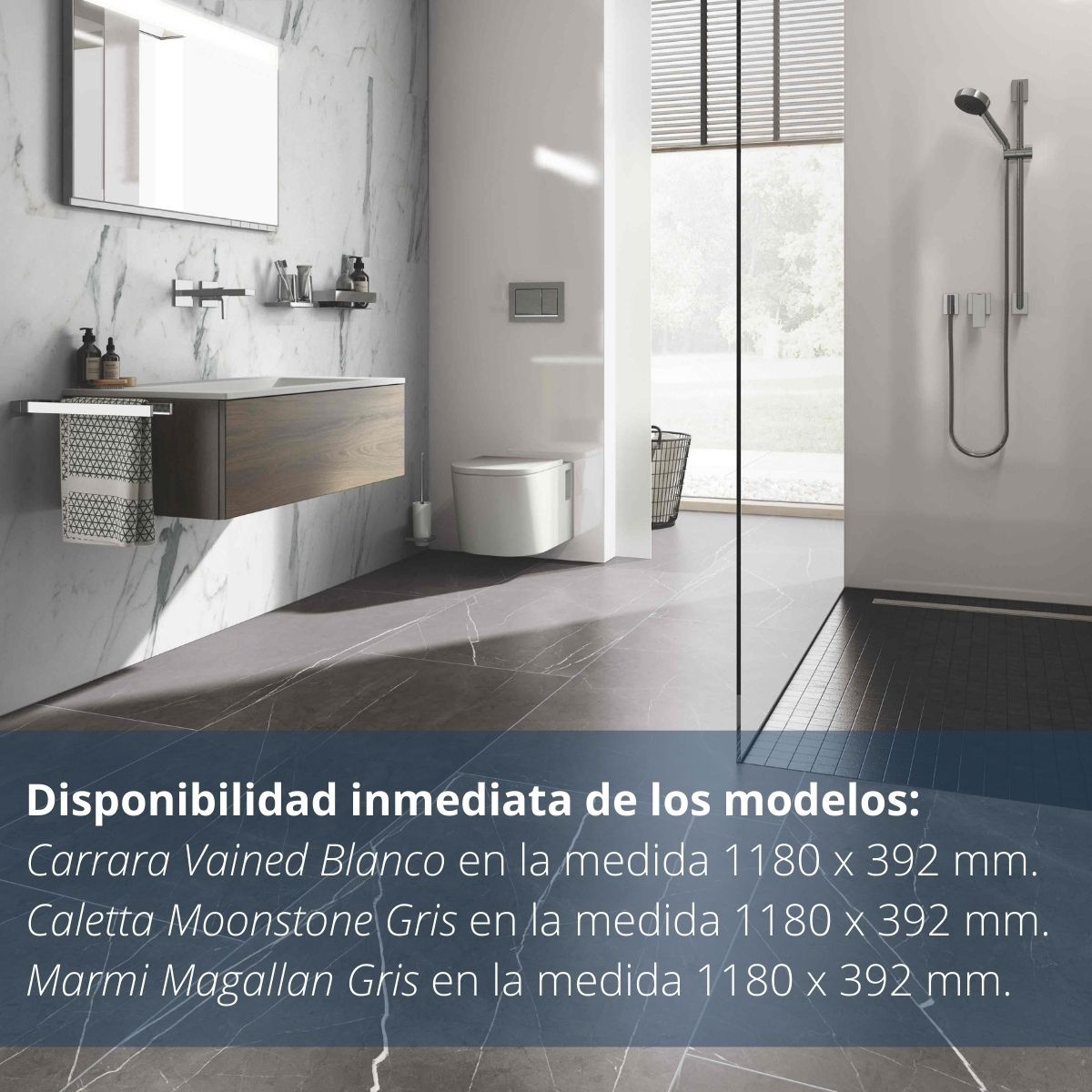 Revestimiento Sensa Ceramic colección Marmol anti humedad baños y cocinas